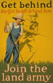 "Vintage ""Get behind the girl he left behind him Join the land army"" Recruitment Poster."